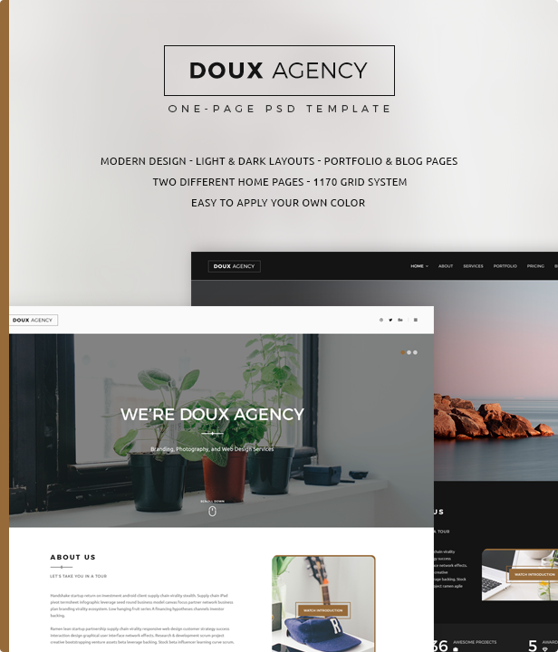 Doux - Creative One-Page PSD Template
