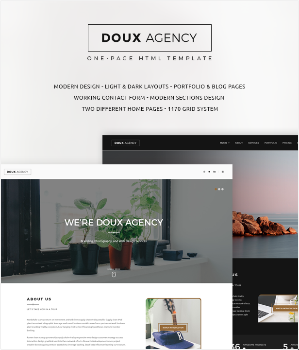 Doux Creative One Page HTML Template